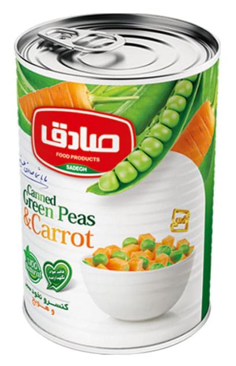Zielony groszek i marchewka
