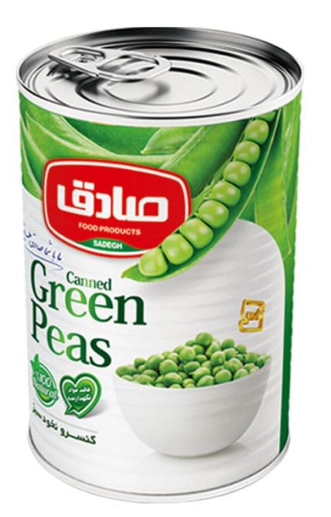 Zielony groszek puszka
